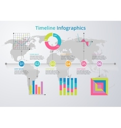 Timeline flat design vector image vector image