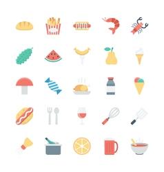 Food Colored Icons 2 vector image