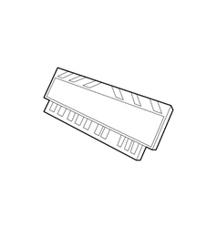 DVD RAM module for the personal computer icon vector image