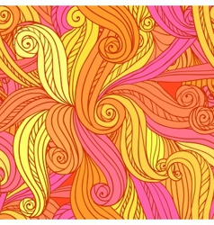Abstract seamless hand-drawn pattern vector image