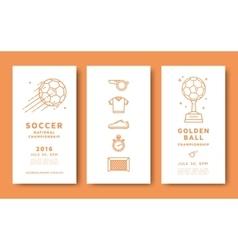 Soccer championship card vector