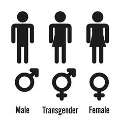 transgender male set of symbols isolated on vector image