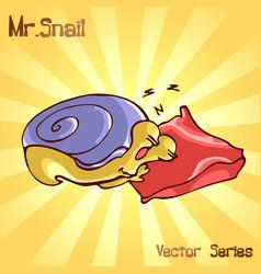 Mr snail with sleep vector