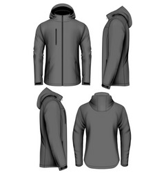 Men softshell jacket vector