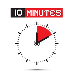 Ten minutes stop watch - clock vector