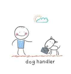 dog handler vector image