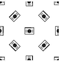 3d model pattern seamless black vector image vector image