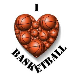 I love basketball vector