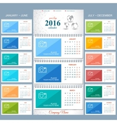 Wall calendar 2016 years  design template vector
