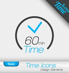 Time iicon 60 minutes symbol design elements vector