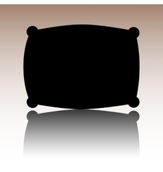 Black pillow icon vector