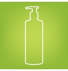 Gel foam or liquid soap vector