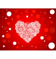 Romantic heart background vector