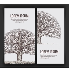 Tree without leaves nature or ecology hand drawn vector