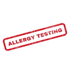 Allergy testing text rubber stamp vector