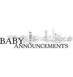 Baby announcements guide make some stylish baby vector