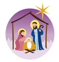 Baby-Jesus-in-a-manger 11 vector image vector image