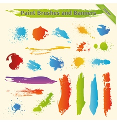 Brushes and Paint Banners vector image vector image