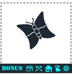 Butterfly icon flat vector