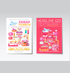 cheap tickets template designs vector image