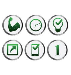 credible green metal icon vector image vector image