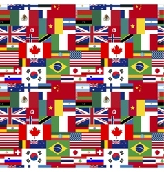 Flags of world sovereign states seamless pattern vector image