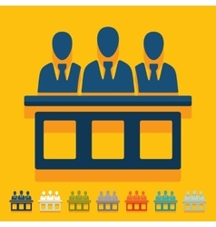 Flat design jurors vector