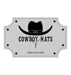 Logo or banner of cowboy hats vector