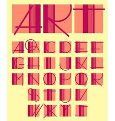 original unique contemporary alphabet design vector image