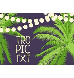 party among palm trees vector image vector image
