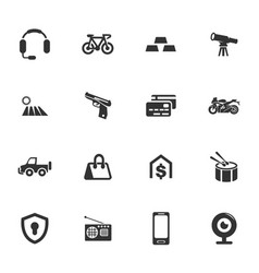Pawnshop icons set vector