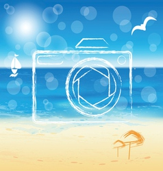 Photo camera silhouette vector