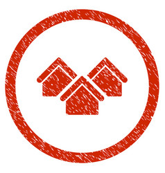 Real estate rounded grainy icon vector