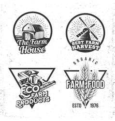 Set of logos farmhouse concepts Labels in retro vector image