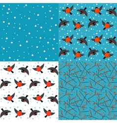Set of winter backgrounds vector image vector image