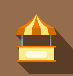 Shopping counter orange with tent icon flat style vector