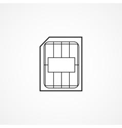 sim card symbol vector image vector image