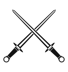 Swords icon in simple style vector image vector image