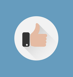 thumbs up icon like icon flat design vector image