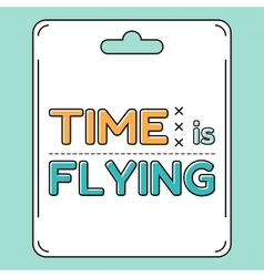 Time is flying vector image vector image