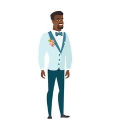 young african-american happy groom vector image vector image