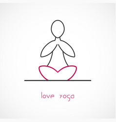 Love yoga vector