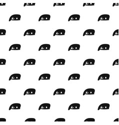 Military cap pattern vector