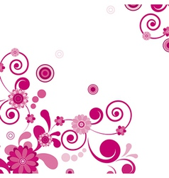 Pink flower floral background to see similar vector