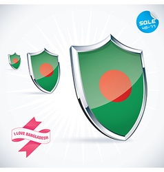 I love bangladesh flag vector