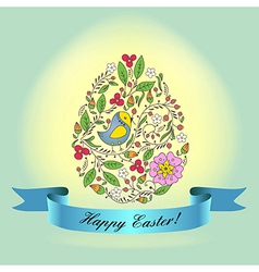 Easter bird blue vector