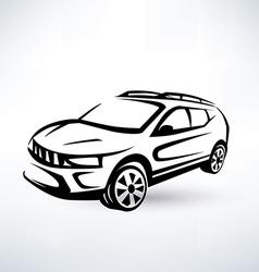 Modern crossover offroader sport car vector