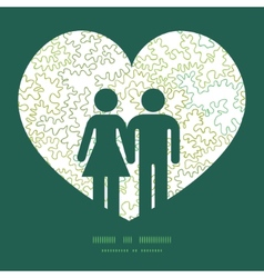 Curly doodle shapes couple in love vector