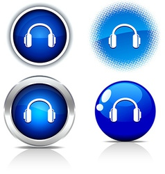 Headphones buttons vector