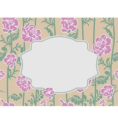 Frame rose vintage background old flowers pattern vector